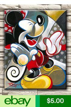 Modern Art Disney Mickey Mouse Deco Oil Painting Hd Print On Canvas Poster Photo & Garden Walt Disney, Disney Mickey Mouse, Mickey Mouse Kunst, Retro Disney, Mickey Love, Mickey Mouse Cartoon, Minnie Mouse, Mickey Mouse And Friends, Disney Magic