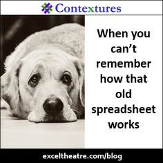 When You Cant Remember How That Old Spreadsheet Works Exceltheatre
