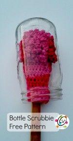 bottle scrubbie free crochet pattern