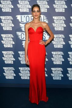 Ana Beatriz Barros in Ulyana Sergeenko Couture attends the L'Oreal Paris Blue Obsession Party on May 18, 2016 #Cannes2016