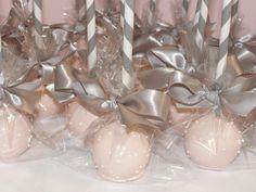 pink & gray bridal shower favors...