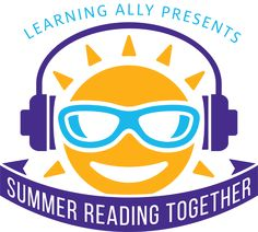 Summer Reading Together logo: a smiling sun with headphone