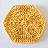 Crochet Fundamentals: How to Crochet a Hexagon. Tutorial by Crafttuts.