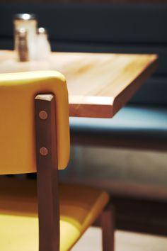 Interior design by jean de lessard. designers créatifs Designers, Restaurant, Interior Design, Detail, Home, Design Interiors, Home Interior Design, Diner Restaurant, Interior Architecture