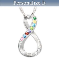 I Love My Family Forever Personalized Pendant Necklace