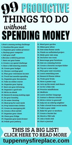 99 super productive things to do (without spending money) TuppennysFIREplace When you have all these ideas and inspiration for projects at home instead of TV you can't be bored, there's so much you can do! This a fantastic list of productive things to do Productive Things To Do, Things To Do At Home, Babysitting Activities, Self Care Activities, Money Tips, Money Saving Tips, Saving Ideas, Organisation Journal, Organization