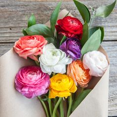 Can't pick one color? Don't worry, they look awesome all together! These mixed color ranunculus are a total crowd-pleaser. And as always, enjoy Free Shipping on all of our cut-to-order, #FarmDirect blooms!