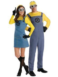 Minions, encuentra más divertidas opciones en disfraces para este Halloween aquí http://www.1001consejos.com/disfraces-para-gemelos/