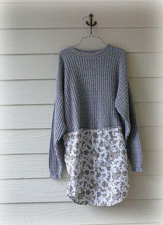Boyfriend Sweater  Dress /  Urban Shabby Chic / by DressMeLoveLee