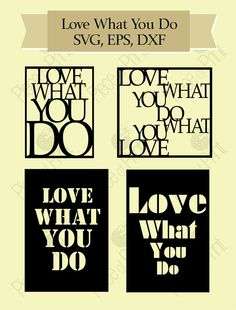 Svg cut file - Love What You Do Stencil Vector Graphic Files SVG EPS DXF, cutting machine file, Cricut svg file, Silhouette, Nature by pieceofprint on Etsy