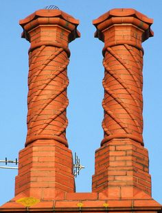 We have some incredible brickwork up on the roof!