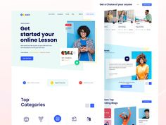 Online Learnign Website Design by Madhu Mia for iSketch Studio on Dribbble Website Design Layout, Homepage Design, Website Design Inspiration, Web Layout, Minimal Web Design, Modern Web Design, Ui Design, Online Education Websites, Websites For Students