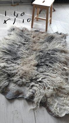 www.zachtaardig.nl -sheeprug without skin 100 % natural felt by Annalies van Eerde
