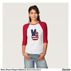 Retro Peace Finger Salute Tshirts