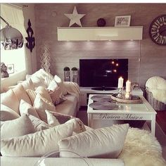 Wohnzimmer Interior Decorating, Interior Design, Beach House, Sweet Home, House Ideas, Living Room, Places, Board, Inspiration