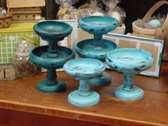 Old wooden bowls and candlesticks