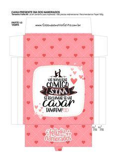 Caixa Musical Dia dos Namorados se reclamar se vai casar tambem_01 Amy Rose, Mary Kay, Halloween Diy, Diy And Crafts, Valentines, Scrapbook, Chocolate, Stickers, Homemade Valentines