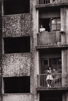 The first postwar municipal apartment buildings, Okubo Tokyo, photograph by Shigeichi Nagano, 1961