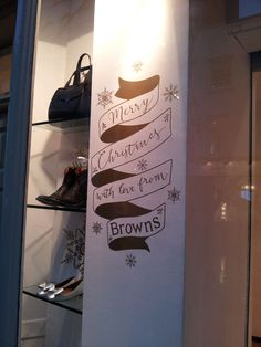 Typography for Browns Fashion Christmas windows