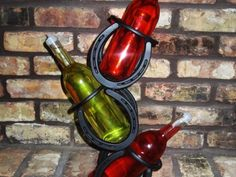 3 Bottle Wine Rack upright