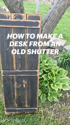 Diy Wood Projects, Furniture Projects, Wood Crafts, Diy Furniture, Diy Home Crafts, Diy Home Decor, Old Shutters, Diy Desk, Do It Yourself Home