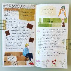 August 10.11 2016 Do you re-read the diary?  毎度のコトながらコラージュが思い浮かばない…。ところで皆さんは日記を読み返したりしていますか?私は日記をつけ始めてからもうすぐ1年経ちますが、1回も読み返したコトがありません…( ・᷄ὢ・᷅ ) これってどーなのよ?!と自分でも思います…↓↓でもこのコラージュしたノートはパラパラと見るの好きです笑 犬のさくらが私と2人だけで散歩に行ってくれました!いつもは旦那がいないとダメなのに…。嬉しい٩(๑˃̵ᴗ˂̵๑)۶ ° でもあまり調子良くなさそうなので心配です。 #トラベラーズノート #日記  #手帳ゆる友 #マステ #海外チケット #スタンプ #タイプライター #Travelersnotebook #stamp #sticker #daiary #ticket #maskingtape #tipewriter #olivettilettera