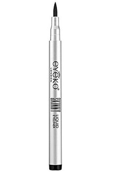 Get the thinnest line you can think of with this pen, or tilt it on its side and fatten up your flick.     Eyeko Skinny Liquid Eyeliner, $15, available at Sephora.