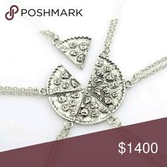 COMING SOON  Pizza Slice Charm Necklace 1 Slice   Silver Pizza Slice Charm Pendant & Chain    Multiple slices make for adorable friendship necklaces!  Bundle for big savings NorCalCloset Jewelry Necklaces