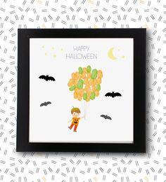 Globo de huellas de halloween, recoge un recuerdo de tus invitados o de aquellos que se acerquen a trick or treat.    Ideal para eventos que coincidan