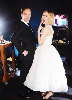 Benedict Cumberbatch and Sara Paulson- two of my fave actors!