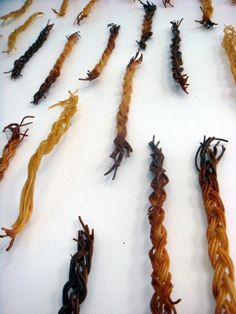 Braidwall (detail) | 2007 | Spaghetti, straight pins |  Tara Bursey