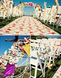 Floral fabric aisle runner? Maybe!