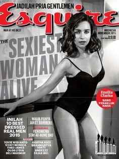 Emilia Clarke - Esquire Magazine Cover [Indonesia] (November 2015)