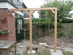 Schommel maken While historical with principle, your pergola may be going through a current rebirth Backyard Swings, Backyard Lighting, Backyard Landscaping, Love Garden, Home And Garden, Tiered Garden, Porche, Garden Pictures, Pergola Designs