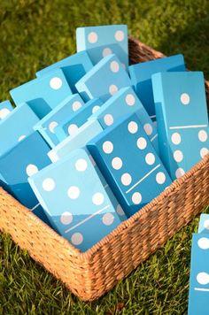 Geniales DIY Domino für den Garten l Spiele selber machen
