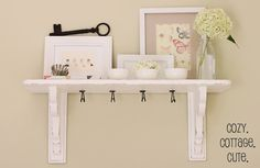 Cozy.Cottage.Cute.: Shelf Before and After + A Shelf Vignette