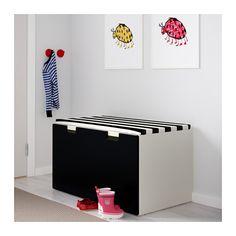STUVA Säilytyspenkki - valkoinen/musta - IKEA