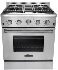 """30"""" Gas Freestanding Range with 5 Burners, Sealed Burner Cooktop, Storage Drawer, 4.2 cu. ft. Primary Oven Capacity, 18000 BTUs, Cast Iron Grates in Stainless Steel The 30"""" freestanding gas range feat"""