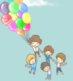 "pandapal: "" Pandapal: Happy Anniversary One Direction! One Direction Cartoons, 2nd Anniversary, Tumblr, Happy, 3 Year Olds, Ser Feliz, Tumbler, 2nd Birthday, Being Happy"