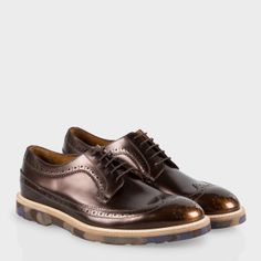 Paul Smith | Bronze High-Shine Leather Grand Brogues