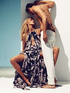 Carefree Couple Shoots : Anja and Sasha for Vogue Germany June 2011