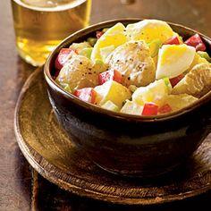 All-American Potato Salad - 22 Potato Salad Recipes - Cooking Light Herbed Potato Salad, Potato Salad With Egg, Potato Dishes, Food Dishes, Side Dishes, Healthy Cooking, Cooking Recipes, Healthy Meals, Cooking Tips