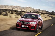 BMW X4 (F26) - sunning red BMW vehicle