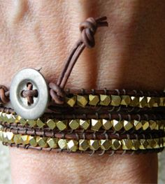 It's not a project to knit, but it's how to make a wrap bracelet. Easy and super stylish -- and think of how much you'll save!