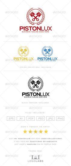 Piston Logo — Photoshop PSD #motor #masculine • Available here → https://graphicriver.net/item/piston-logo/8567395?ref=pxcr