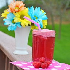 White Grape Raspberry Punch. A favorite of ours! I added one half can ...