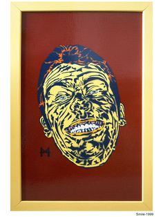 Smile. 1999 Stencil Graffiti, Stencils, Artworks, Street Art, Smile, Art Pieces, Templates, Stenciling, Sketches