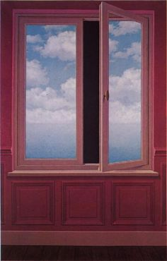 René Magritte - The magnifying glass, 1963