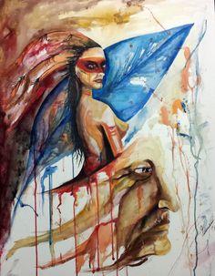 Índia #aquarela #watercolor