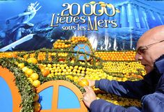 "France Menton 18th Lemon Festival to see the lemon ""Underwater World"" CHINESE 法国芒通第十八届柠檬节 一睹柠檬""海底世界"""
